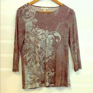 Coldwater Creek ladies Sz Small blouse 3/4
